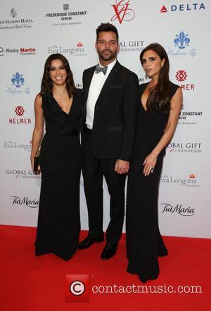 Victoria Beckham, Eva Longoria and Ricky Martin
