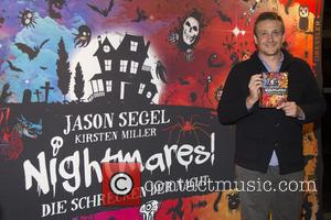 Photo's of American actor and comedian Jason Segel as he promotes his new book 'Nightmares!' at the CinemaxX movie theater...