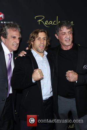 John Herzfeld, Urijah Faber and Sylvester Stallone