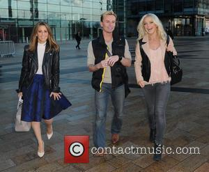 Rachel Stevens, Jon Lee and Hannah Spearritt - Celebrities at the BBC Breakfast studios in Media City - Manchester, United...