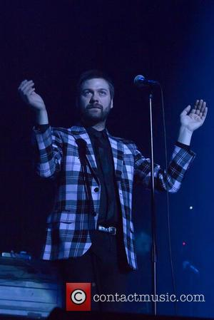 Tom Meighan - Kasabian performing live on stage at the SSE Hydro in the SECC campus in Glasgow at the...