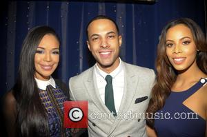 Marvin Humes, Rochelle Humes and Sarah Jane Crawford