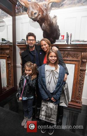 Angela Griffin, Jason Milligan, Tallulah Milligan and Melissa Milligan