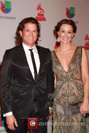 Carlos Vives and Claudia Elena Vasquez - A host of celebrities were snapped as they attended the 2014 Latin Grammy...