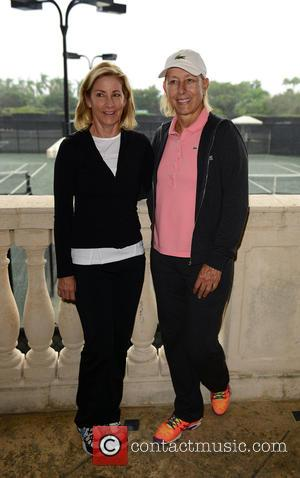 Chris Evert and Martina Navratilova