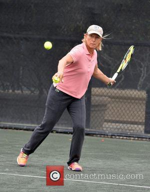 Martina Navratilova - 25th annual Chris Evert / Raymond James Pro-Celebrity Tennis Classic at Delray Beach Tennis Center - Day...