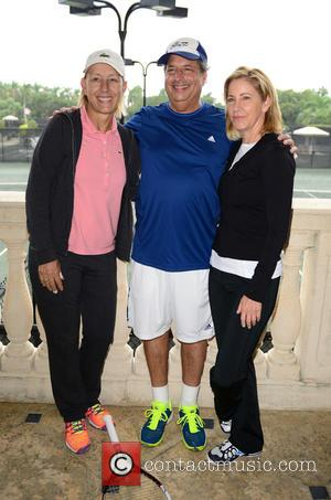 Martina Navratilova, Jon Lovitz and Chris Evert