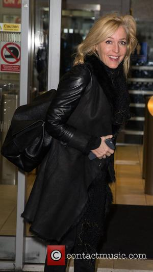 Gillian Anderson - Celebrities at the BBC Radio 2 Studios at BBC Portland Place - London, United Kingdom - Friday...