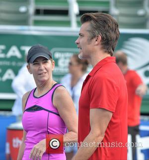 Chris Evert and Timothy Olyphant