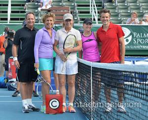 Jon Lovitz, Hoda Kotb, Martina Navratilova, Chris Evert and Timothy Olyphant