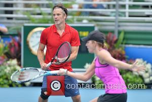 Timothy Olyphant and Chris Evert