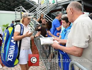 Martina Navratilova - 25th Annual Chris Evert and Raymond James Pro-Celebrity Tennis Classic - Day 2 at Delray Beach Tennis...