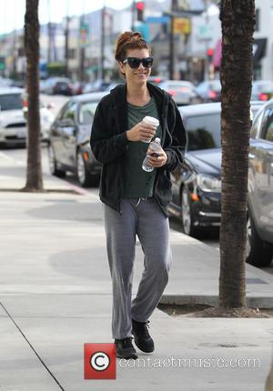 Kate Walsh - Kate Walsh leaving the gym in Studio City carrying a cup of coffee and a bottle of...