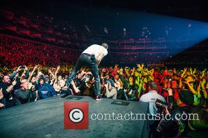 Chester Bennington - Photographs of American Nu metal band Linkin Park as they performed live in concert at the O2...