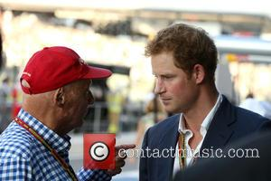 Prince Harry Of Wales and Niki Lauda