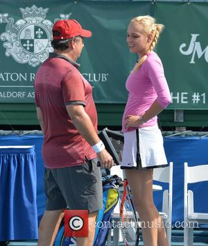 Jon Lovitz and Donna Vekic - Shots of the action on the third day at the 25th Annual Chris Evert...