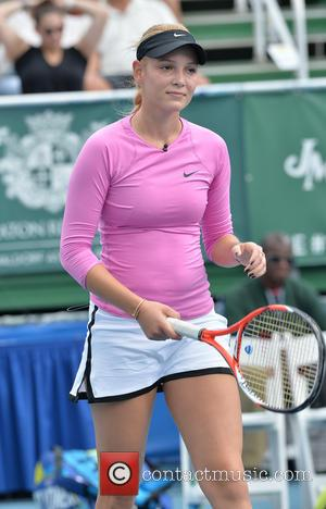 Donna Vekic - Shots of the action on the third day at the 25th Annual Chris Evert and Raymond James...
