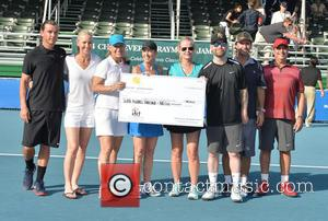 Gavin Rossdale, Renee Stubbs, Martina Navratilova, Chris Evert, Maeve Anne Quinlan, David Cook, Vince Spadea and Jon Lovitz