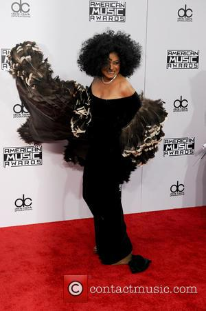 Diana Ross - Photographs of a wide variety of stars from the music industry as they attended the American Music...