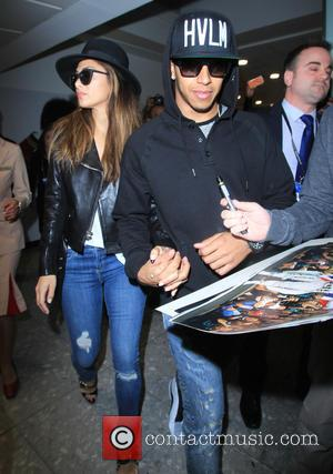 nicole scherzinger and Lewis Hamilton - Lewis Hamilton, the 2015 Formula One champion, and Nicole Scherzinger arrive at London Heathrow...