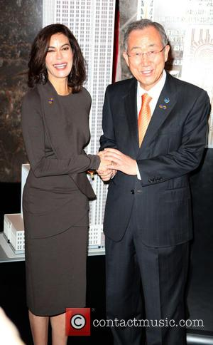 Teri Hatcher and Ban Ki-moon