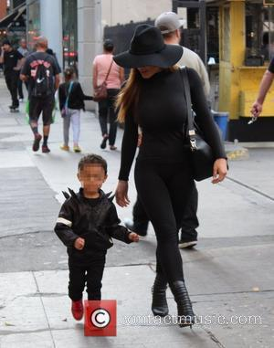 Daphne Joy and Sire Jackson - Daphne Joy out and about with her son, Sire, also the son of rapper...
