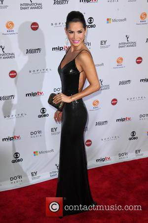 Carmen Villalobos - Shots from red carpet as a host of stars arrived at the 2014 International Academy Of Television...