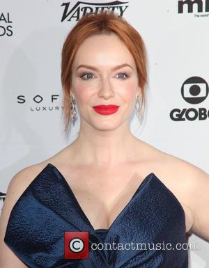 Christina Hendricks - Shots from red carpet as a host of stars arrived at the 2014 International Academy Of Television...
