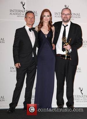 Dennis Kelly, Darby Stanchfield and Marc Munden