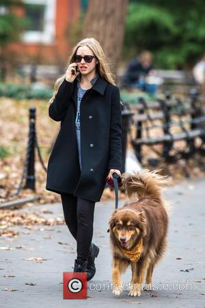 Amanda Seyfried and Flynn - Amanda Seyfried takes her dog Flynn for a walk at New York - New York...