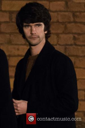 Ben Whishaw - Shots from the set of 'London Spy' as Ben Whishaw and Edward Holcroft filmed night scenes in...
