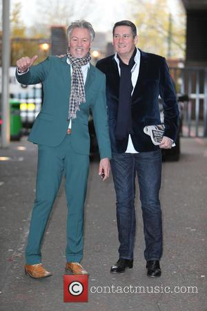 Paul Young and Tony Hadley - Paul Young and Tony Hadley outside the ITV studios - London, United Kingdom -...
