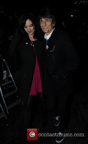 Ronnie Wood and Sally Humphreys - A variety of stars were snapped at the Christmas lights switch on at the...