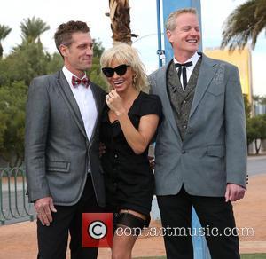 Jack Ryan, Pamela Anderson and Dan Mathews - Pamela Anderson and Chrissie Hynde Give Away Gay PETA Leader at Wedding...