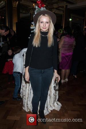 Emily Berrington - HardlyEverWornIt.com - Christmas party held at the Hotel Cafe Royal. - London, United Kingdom - Thursday 27th...
