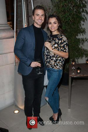 Samantha Barks and Richard Fleeshman - HardlyEverWornIt.com - Christmas party held at the Hotel Cafe Royal. - London, United Kingdom...