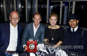 Dr. Dieter Zetsche, Marco Cormann, Nora Zetsche and Lewis Hamilton