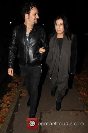 Jessie Wallace and Tim Arnold - Jessie Wallace and Tim Arnold seen arriving at a theatre. Tim had been in...