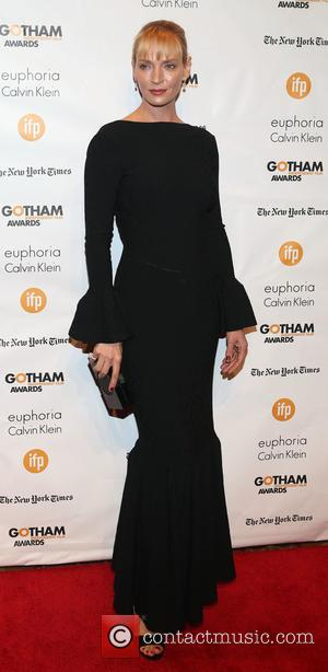 Uma Thurman - Photographs of a variety of stars as they arrived at the 24th Annual Gotham Independent Film Awards...