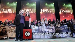 Sir Peter Jackson and Katie Jackson - 'The Hobbit: The Battle of the Five Armies' world premiere at the Empire...