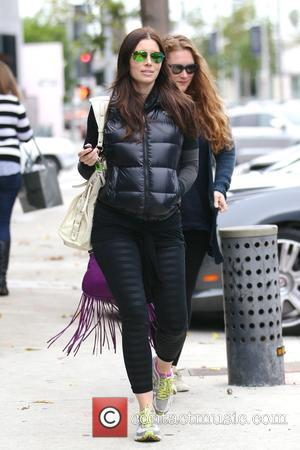 Shots of American actress Jessica Biel out and about in West Hollywood, Los Angeles, California, United States - Monday 1st...