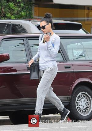 Naya Rivera - Naya Rivera wearing no make up and dressed down wearing grey sportswear is out and about in...