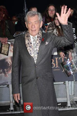 Sir Ian McKellen - Shots from the World Premiere of 'The Hobbit: The Battle of the Five Armies' the final...