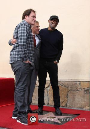 Quentin Tarantino, Christoph Waltz and Samuel L. Jackson