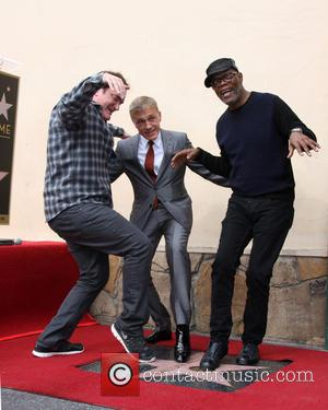 Quentin Tarantino, Christoph Waltz and Samuel L. Jackson - Photographs as Austrian actor Christoph Waltz was honored with a star...