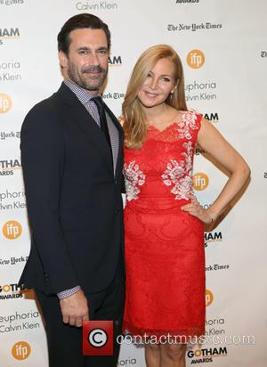 Jon Hamm and Jennifer Westfeldt - Photographs of a variety of stars as they arrived at the 24th Annual Gotham...