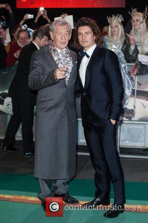 Sir Ian McKellen and Orlando Bloom - 'The Hobbit: The Battle of the Five Armies' world premiere - Arrivals -...