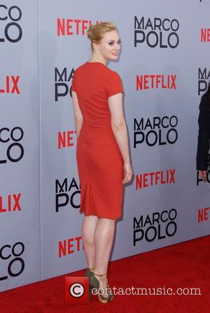 Deborah Ann Woll - Shots of stars as they arrived for the New York premiere of 'Marco Polo' which was...