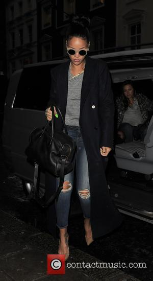 Bajan pop star Rihanna was spotted out for lunch at the Hakkasan restaurant in Mayfair, London, United Kingdom - Tuesday...