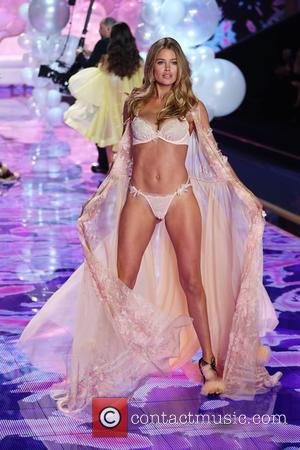 Doutzen Kroes - Shots from the Victoria's Secret Fashion Show 2014 runway which saw the Victoria's Secret Angels strut their...